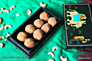Aata Ladoo With Coconut Sugar - Plattershare - Recipes, Food Stories And Food Enthusiasts