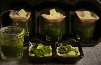 Canapes Potato Paneer Bites With Green Chutney - Plattershare - Recipes, Food Stories And Food Enthusiasts