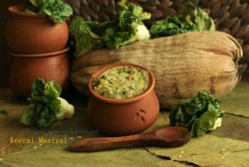 Keerai Masiyal | Spinach Gravy - Plattershare - Recipes, Food Stories And Food Enthusiasts