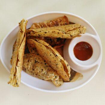 Stuffed Papad - Plattershare - Recipes, Food Stories And Food Enthusiasts