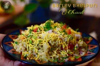 Barley Bhelpuri Chaat - Plattershare - Recipes, Food Stories And Food Enthusiasts