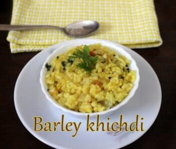 Barley Khichdi - Plattershare - Recipes, Food Stories And Food Enthusiasts