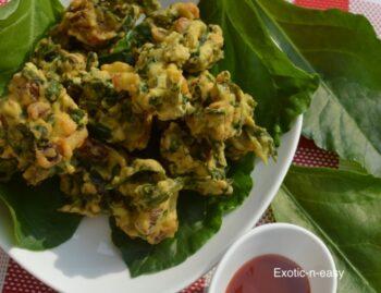 Palak And Veggie Pakora - Plattershare - Recipes, Food Stories And Food Enthusiasts
