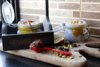 Gulkand(Rose Petal Preserve) And Mango Chia Seeds Breakfast - Plattershare - Recipes, Food Stories And Food Enthusiasts