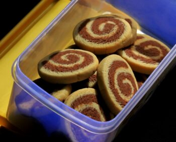 Eggless Choco Pinwheel Cookies Or Choco Swirl Cookies - Plattershare - Recipes, Food Stories And Food Enthusiasts