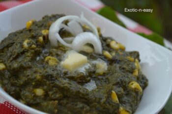 Corn Palak - Plattershare - Recipes, Food Stories And Food Enthusiasts
