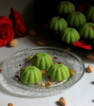 Pista Sandesh - Plattershare - Recipes, Food Stories And Food Enthusiasts