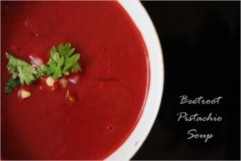 Beetroot Pistachio Soup - Plattershare - Recipes, Food Stories And Food Enthusiasts