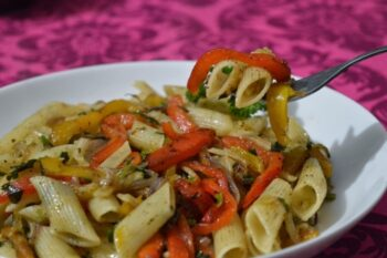Roasted Pepper Pasta - Plattershare - Recipes, Food Stories And Food Enthusiasts