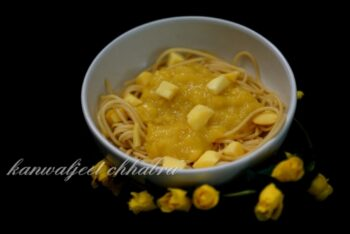 Spaghetti In Mango Sauce ( A Dessert With Pasta ) - Plattershare - Recipes, Food Stories And Food Enthusiasts