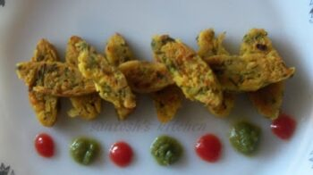 Chana Dal Spinach Fingers - Low Fat Snack - Plattershare - Recipes, Food Stories And Food Enthusiasts