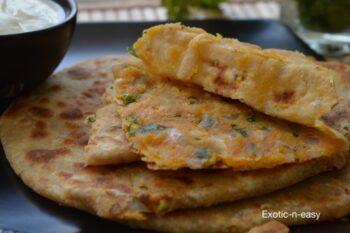 Malai Besani Paratha (Cream Stuffed Bread) - Plattershare - Recipes, Food Stories And Food Enthusiasts