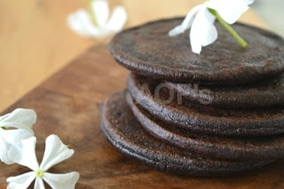 Chak Hao Tann ( Black Rice Pancakes From Manipur ) - Plattershare - Recipes, Food Stories And Food Enthusiasts