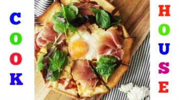Bread Pizza Recipe: Homemade Bread Pizza With Egg &Amp; Prosciutto - Plattershare - Recipes, Food Stories And Food Enthusiasts