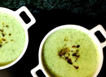 Cream Of Broccoli Soup With Burnt Garlic And Orange - Plattershare - Recipes, Food Stories And Food Enthusiasts