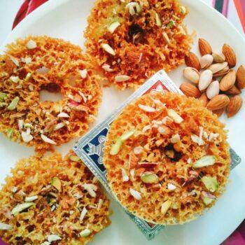 Rajasthani Ghevar - Plattershare - Recipes, Food Stories And Food Enthusiasts