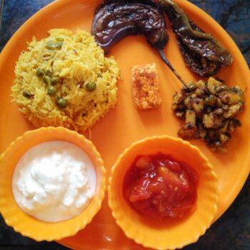 Basant Panchami Thali - Plattershare - Recipes, Food Stories And Food Enthusiasts