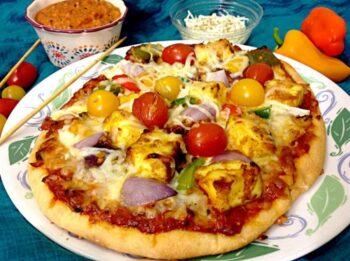 Paneer Tikka Pizza - Plattershare - Recipes, Food Stories And Food Enthusiasts
