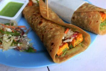 Paneer Tikka Kathi Roll - Plattershare - Recipes, Food Stories And Food Enthusiasts