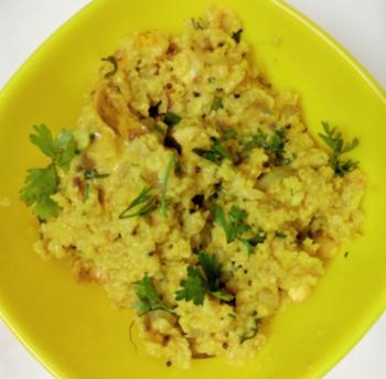 Lapsi ( Daliya ) Upma - Plattershare - Recipes, Food Stories And Food Enthusiasts