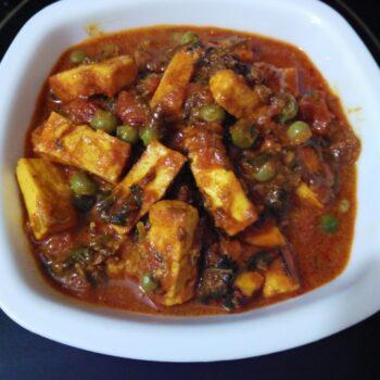 Chatpata Matar Paneer - Plattershare - Recipes, Food Stories And Food Enthusiasts