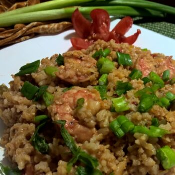Brown Rice Shrimp Jambalaya (Valentines Day Dinner) - Plattershare - Recipes, Food Stories And Food Enthusiasts