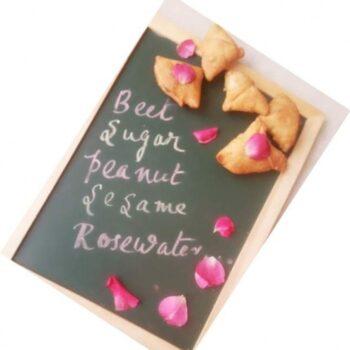 Beeta- Meetha Gulab Samosa / Beetroot And Rose Sweet Samosa - Plattershare - Recipes, Food Stories And Food Enthusiasts
