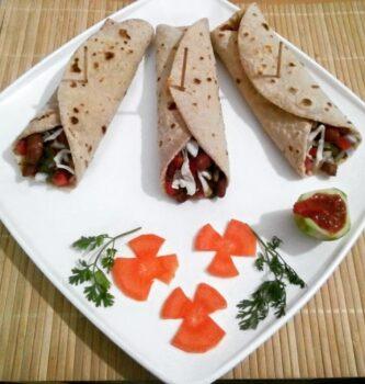 Achari Rajma Roll - Plattershare - Recipes, Food Stories And Food Enthusiasts