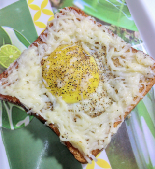 Baked Eggs On A Cheesy Toast - Plattershare - Recipes, Food Stories And Food Enthusiasts