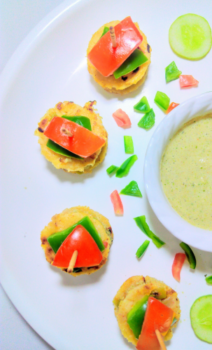 Oats Uttappa Vegetables Sandwich - Plattershare - Recipes, Food Stories And Food Enthusiasts