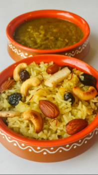 Tairi (Sindhi Sweet Rice In Gur/ Jaggery) - Plattershare - Recipes, Food Stories And Food Enthusiasts