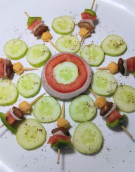 Rajma-Chickpeas-Cucumber Salad - Plattershare - Recipes, Food Stories And Food Enthusiasts
