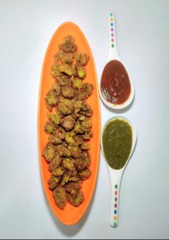 Palak Sabji Pakode - Plattershare - Recipes, Food Stories And Food Enthusiasts