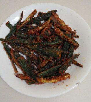 Kurkure Bhindi (Okra) - Plattershare - Recipes, Food Stories And Food Enthusiasts