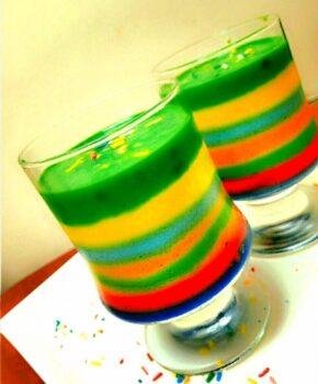 Rainbow Panna Cotta (Vegan) - Plattershare - Recipes, Food Stories And Food Enthusiasts