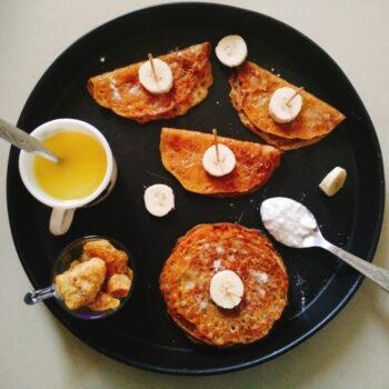 Kids Healthy Recipe - Gujarati Sweet Whole Wheat Pancakes/Meetha Pudla - Plattershare - Recipes, Food Stories And Food Enthusiasts