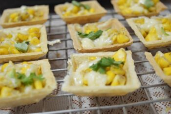 Corn Canapes - Plattershare - Recipes, Food Stories And Food Enthusiasts