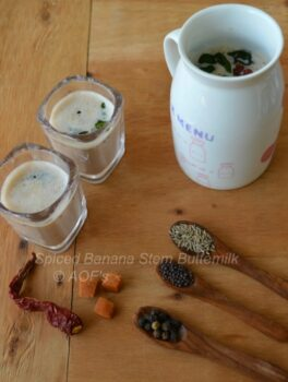 Spiced Banana Stem Buttermilk - Plattershare - Recipes, Food Stories And Food Enthusiasts
