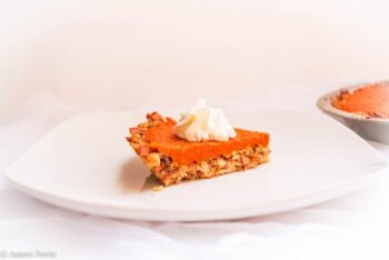 Carrot Halwa Pie With Almonds Crust - Plattershare - Recipes, Food Stories And Food Enthusiasts