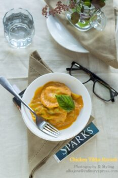 Chicken Tikka Ravioli In A Creamy Tomato Sauce - Plattershare - Recipes, Food Stories And Food Enthusiasts