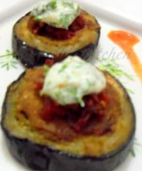 Stuffed Brinjal Rings... A Fusion Dish - Plattershare - Recipes, Food Stories And Food Enthusiasts