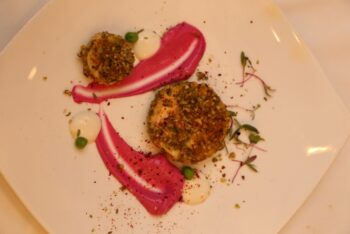 Dukkah Crusted Paneer With Creamy Beetroot - Plattershare - Recipes, Food Stories And Food Enthusiasts