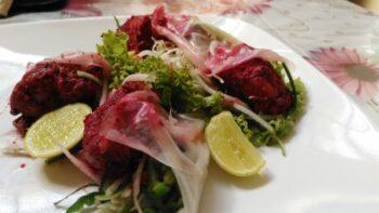 Gulaabi Chicken Tikka Thai Wrap - Plattershare - Recipes, Food Stories And Food Enthusiasts
