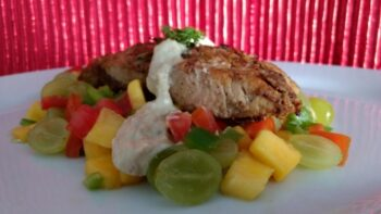 Tangy Fish With Grape Sauce And Grape Salsa. - Plattershare - Recipes, Food Stories And Food Enthusiasts