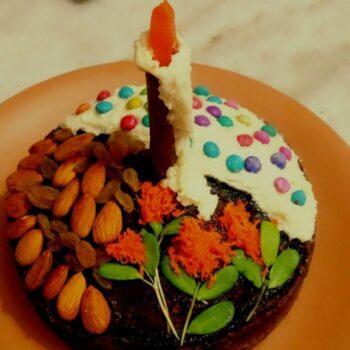 Eggless Gajar-Methi-Badam Chocolate Cake ( Carrot - Fenugreek - Almond Chocolate Cake ) - Plattershare - Recipes, Food Stories And Food Enthusiasts