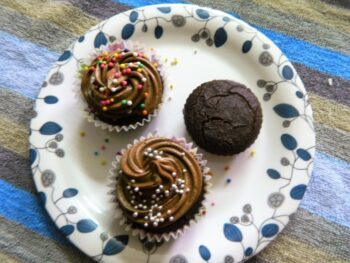 Gluten Free Red Poha And Multi Millets Chocolate Cakelets - Plattershare - Recipes, Food Stories And Food Enthusiasts