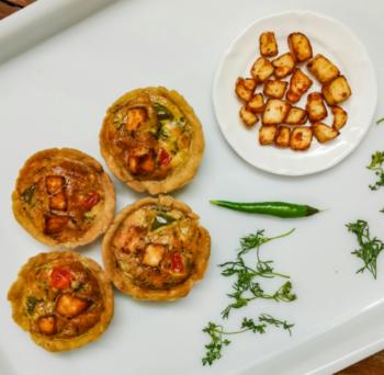 Tandoori Paneer Frittata In Tart Shells - Plattershare - Recipes, Food Stories And Food Enthusiasts