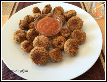 Baked Breaded Mushrooms - Plattershare - Recipes, Food Stories And Food Enthusiasts