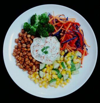 Pro-Veg Platter With Greek Yogurt Dip - Plattershare - Recipes, Food Stories And Food Enthusiasts