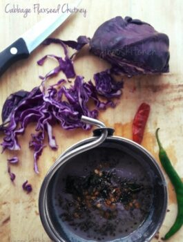 Cabbage Flax Seed Chutney - Plattershare - Recipes, Food Stories And Food Enthusiasts